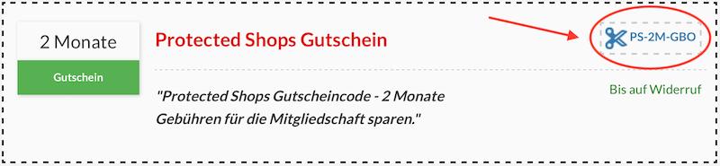 Protected Shops Gutschein kopieren