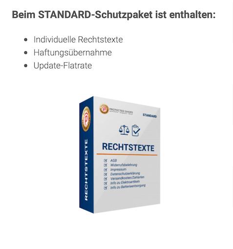 Standardpakete mit dem Protected Shops Gutschein günstiger nutzen