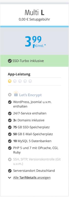 Alfahosting Gutscheincode für Webhosting Multi L