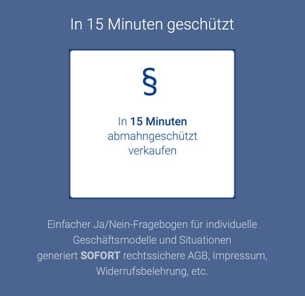 Mit dem Protected Shops Gutschein günstig in 15 Minuten geschützt