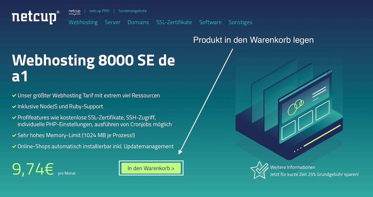 Netcup Gutscheincode Webhosting Produkte