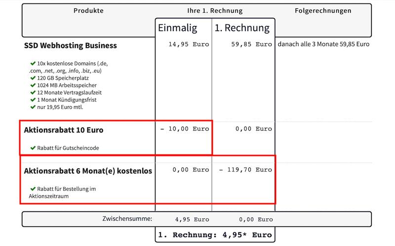 webgo Gutscheincode 6 Monate + 10 Euro