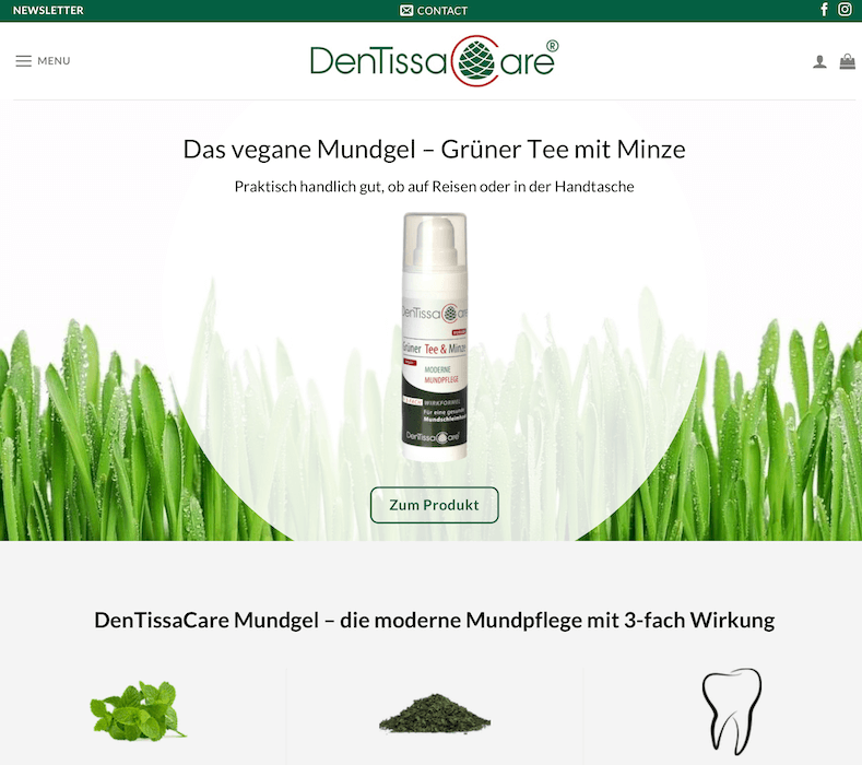 Wordpress Onlineshop von DentissaCare